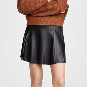 Spanx faux leather skirt